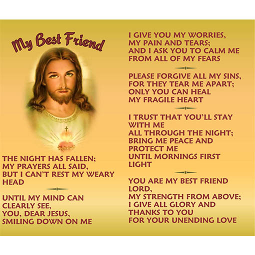 Night prayer my best friend pocket cardvenice trusting souls night prayer my best friend pocket cardvenice thecheapjerseys Gallery
